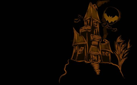Dibujo de Castillo para Halloween