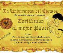 Diploma para el mejor Papá del mundo.
