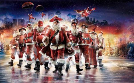 Santa Claus por mar.