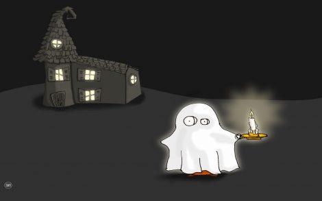 Fantasma Halloween Fondos 2013