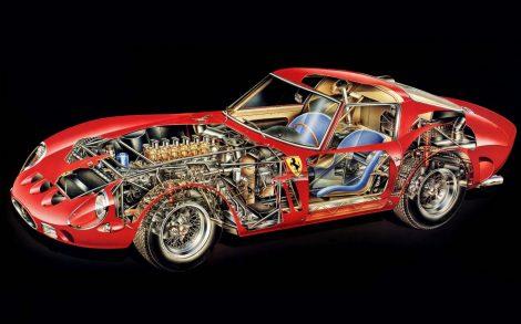 Ferrari 250 GTO por dentro.