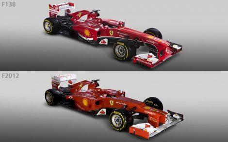 Ferrari F138 vs Ferrari 2012