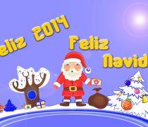Fondo Pantalla Feliz 2014 y Feliz Navidad.