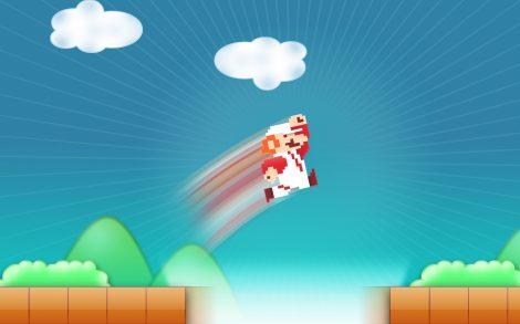 Fondo Videojuego Retro Mario Bros.