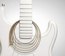Fondo Blanco de Guitarra eléctrica