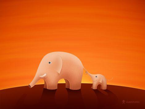 Fondo Infantil de Elefantes