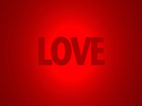 Fondos Rojo con la palabra Love