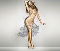 Gisele Bundchen con vestido de agua.