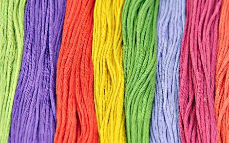 Hilos de Colores Textura