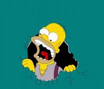 Homer Simpson Devorando tu fondo de pantalla