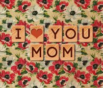 I love you mom fondo floral.