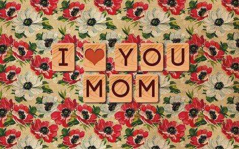 I love you mom fondo floral.