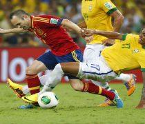 Iniesta Copa Confederaciones 2013 España vs Brasil.