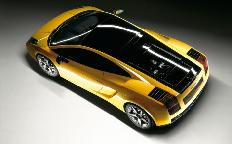 Lamborghini Amarillo desde arriba