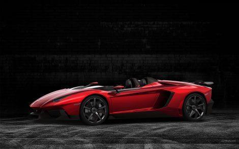Lamborghini Descapotable Rojo