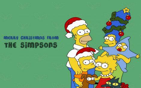 Los Simpson en Navidad.