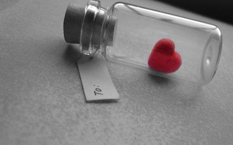 Mensaje de Amor en una botella para San Valentín