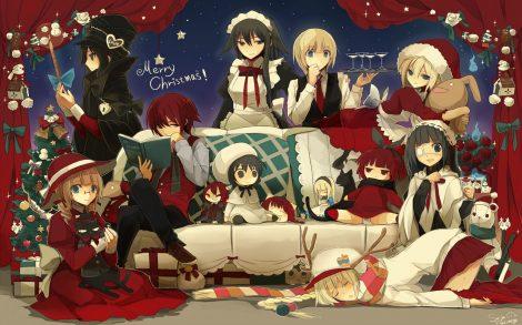 Merry Christmas Anime Wallpaper.