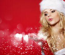 Mujer de Santa Claus