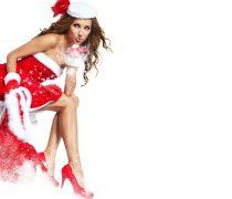Mujer Papá Noel para fondo de pantalla