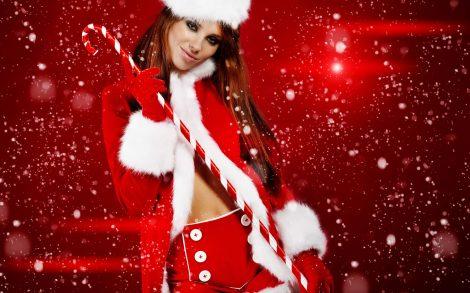 Mujer de Santa Claus Wallpaper