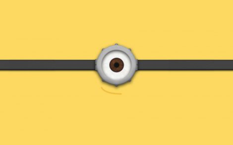 Ojos de Minion Wallpaper.
