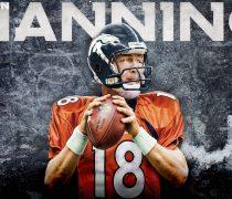 Peyton Manning Quarterback Super Bowl 2014.