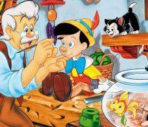 Pinocho y Gepeto. Wallpaper Infantil