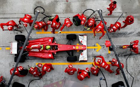 Pit Stop Ferrari Wallpaper