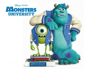 Póster Monster University.