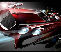 Santa Claus conduciendo un Bentley.