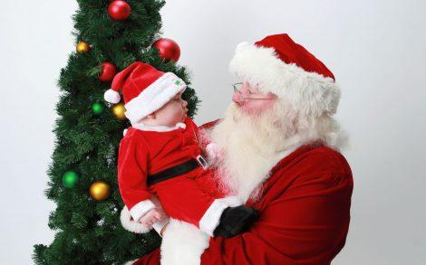 Santa con Bebé