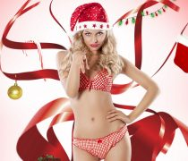 Santa Girl 2014 Wallpaper