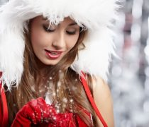 Santa Girl Wallpaper.