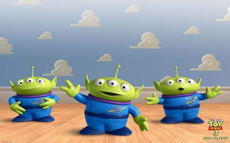 Toy Story 3 Wallpapers. Trio de Marcianos