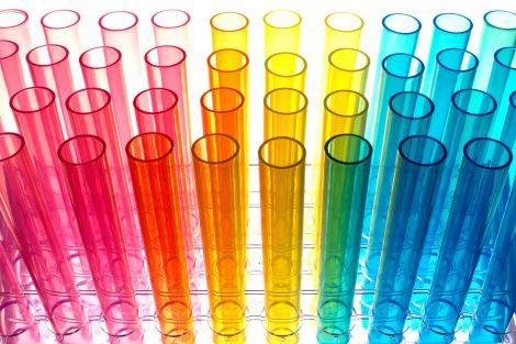 Tubos de ensayos de colores