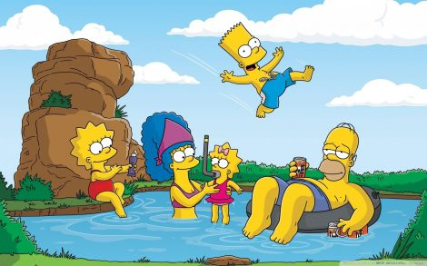 Vacaciones Familia Simpson Wallpaper.