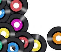 Vinilos 45 rpm de colores