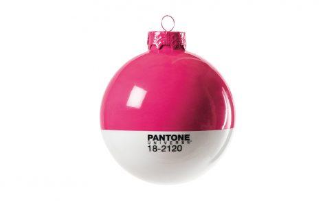 Wallpaper Bola Navidad Pantone Rosa