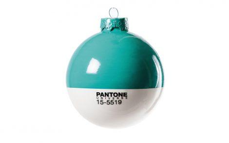 Wallpaper Bola Navidad Pantone Verde