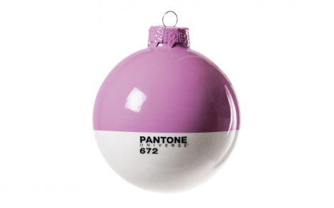 Wallpaper Bola Navidad Pantone Violeta