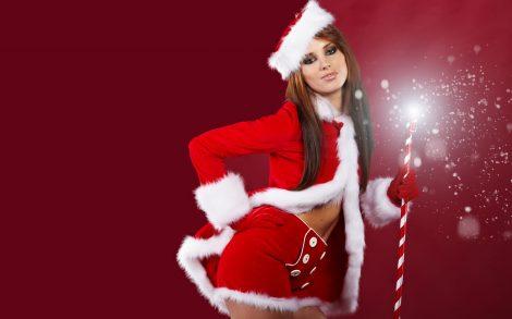 Wallpaper Chica Santa Claus HD.