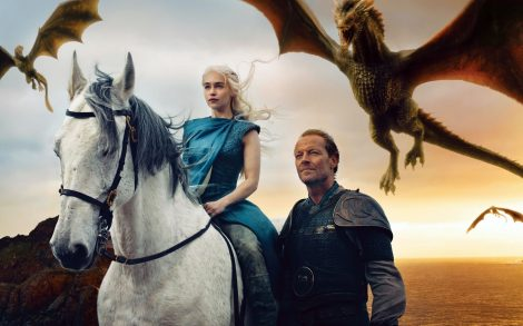 Wallpaper Daenerys con Dragones