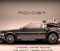 Wallpaper Delorean Regreso al Futuro.