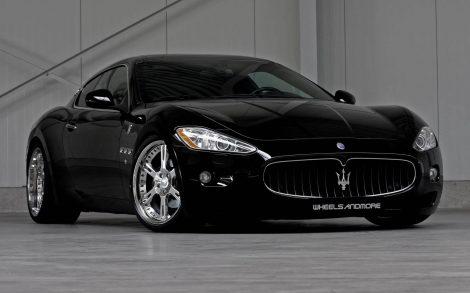 Wallpaper Maserati Negro para fondo de escritorio.