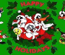 Wallpaper Navidad con Bugs Bunny y Amigos.