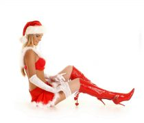 Wallpaper Santa Girl Sensual