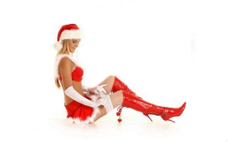 Wallpaper Santa Girl Sensual