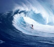 Wallpaper Surfista en gran Ola.
