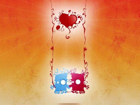 Wallpaper de Amor Abstracto